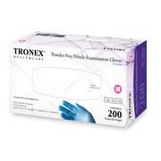 Tronex Nitrile Powder-Free Fingertip-Textured, Blue, Examination Gloves, Large (9252-30)