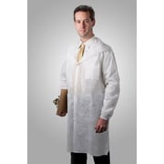 Tronex Fluid-Resistant Spunbond Full-Length Lab Coat, Unisex, Extra Large, Lab Coat, White (594035W)