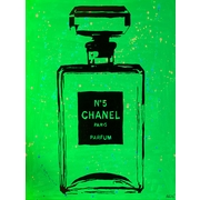 Diamond Decor Wall Art Chanel Pop Art Green Chic 18 x 24 in. (PAQ018CM)