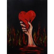 Diamond Decor Wall Art Broken Heart 24 x 32 in. (EDC008CL)