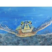 Diamond Decor Wall Art Sea Turtle 18  x 24 in. (EDC002CM)
