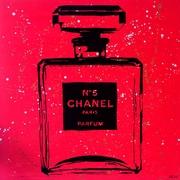 Diamond Decor Wall Art Chanel Pop Art Red Chic 36 x 36 in. (PAQ006CXL)