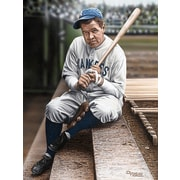 Diamond Decor Wall Art Babe Ruth Sitting on Top Step Artwork 24 x 32 in. (DV2031CL)