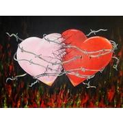 Diamond Decor Wall Art Hearts Together Crashing Hearts 24 x 32 in. (EDC004CL)