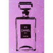 Diamond Decor Wall Art Purple Chanel No. 5 Pop Art 12 x 18 in. (PAQ005CS)