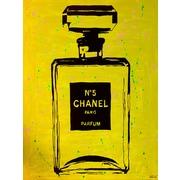 Diamond Decor Wall Art Chanel Pop Art Yellow Chic 12 x 16 in. (PAQ017CS)