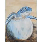 Diamond Decor Wall Art Sea Turtle Hatching 18 x 24 in. (EDC005CM)