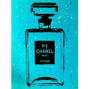 Diamond Decor Wall Art Chanel Pop Art CC Blue Chic 24 x 32 in. (PAQ013CL)