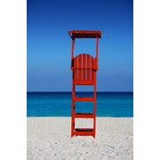 Diamond Decor Wall Art Caribbean Beach Lifegaurd Stand 24 x 36 in. (JW1030CL)
