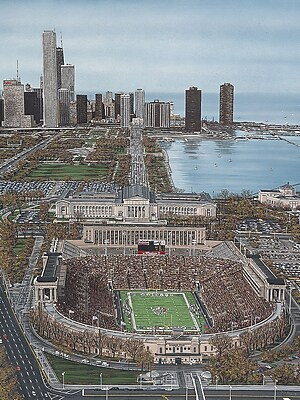 Diamond Decor Chicago's Soldier Field Artwork Canvas 24 x 32 in. (DV2005CL) 2510818