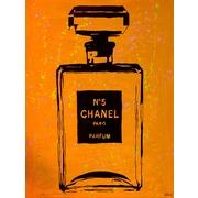 Diamond Decor Wall Art Chanel Pop Art Orange Chic 24 x 32 in. (PAQ019CL)