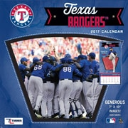 Turner Licensing Texas Rangers 2017 Mini Wall Calendar (17998040546)