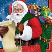 "Amscan Classic Santa Luncheon Napkin, 6.5"" x 6.5"" (711697)"