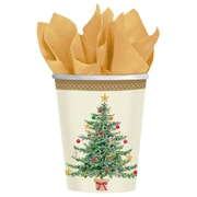 Amscan Victorian Tree Paper Cup, 9oz, 5/Pack, 8 Per Pack (589901)