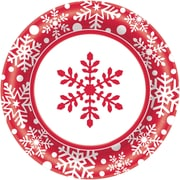 "Amscan Winter Holiday Paper Plate, 10"" x 10"", 4/Pack, 40 Per Pack (721331)"