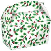 "Amscan Holly Gable Box, 2.75"" x 4.5"" x 2.5"", 4/Pack, 5 Per Pack (395102)"