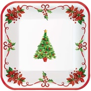 """Amscan Traditional Christmas Paper Plate, 7"""" x 7"""", 4/Pack, 40 Per Pack (741432)"""