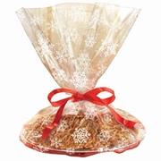 "Amscan Snowflake Printed Cookie Tray Bags, 18"" x 16"", 4/Pack, 6 Per Pack (370193)"