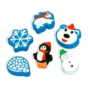 Amscan Winter Fun Erasers, 6/Pack, 12 Per Pack (394897) by