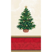 """Amscan Classic Christmas Tree Guest Towel 7.75"""" x 4.5"""", 5/Pack, 16 Per Pack (539900)"""