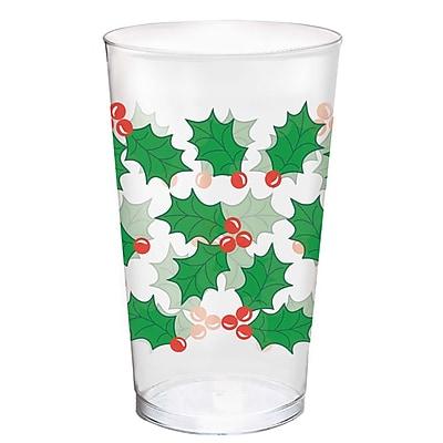Amscan Holly Plastic Tumblers, 16oz (580011) 2536837