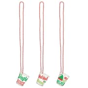 """Amscan Christmas Shot Glass Necklaces, 20"""", 2/Pack, 4 Per Pack (392323)"""