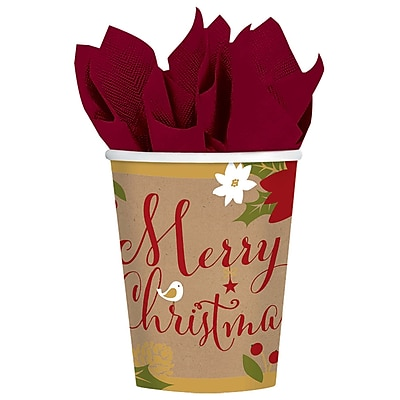 Amscan Merry Little Christmas Paper Cup, 9oz, 3/Pack, 18 Per Pack (731557) 2536850