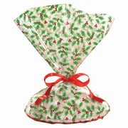 "Amscan Holly Printed Cookie Tray Bags, 18"" x 16"", 4/Pack, 6 Per Pack (374511)"