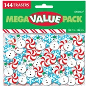 Amscan Christmas Erasers, 4/Pack, 144 Per Pack (393109) by