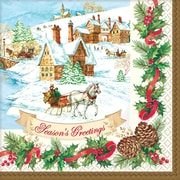 "Amscan Holiday Magic Beverage Napkin, 5"" x 5"", 3/Pack, 36 Per Pack (701685)"