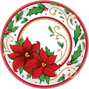 "Amscan Winter Botanical Paper Plate, 7"" x 7"" (741177)"