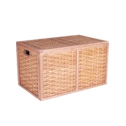 Household Essentials Poplar Wicker Storage Chest, Large, Natural (ML-5675)