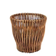 Household Essentials Small Reed Willow Waste Basket, Brown (ML-2225)