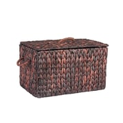 Household Essentials Autumn Wicker Storage Trunk, Small, Brown Stained (ML-6610B)