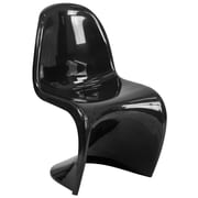 Mystique Series Black Plastic Stacking Side Chair (FH-127-AAS-BK-GG)