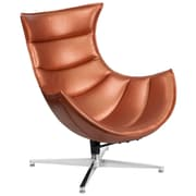 Copper Leather Swivel Cocoon Chair (ZB-36-GG)