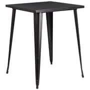 31.5'' Square Bar Height Black-Antique Gold Metal Indoor-Outdoor Table (CH-51040-40-BQ-GG)