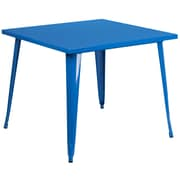 35.5'' Square Blue Metal Indoor-Outdoor Table (CH-51050-29-BL-GG)