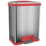 halo™ TapCan® 13 gal. Stainless Steel Sensor Trash Can Red Trim TC13SR
