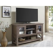 "Altra Everett TV Stand  for TVs up to 70"" with Glass Doors, Sonoma Oak (1785096COM)"