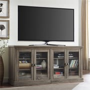"Ameriwood Home Bennett TV Stand with Glass Doors for TVs up to 70"", Sonoma Oak (1784096PCOM)"
