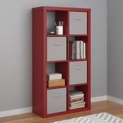 Altra Parsons Hollow Core 8 Cube Organizer, Red (7683796COM)