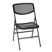 COSCO Commercial Resin Mesh Folding Chair, Black, 4-pack (60864BLK4E)
