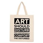 Retrospect Group Natural Canvas ART SHOULD DISTURB Tote Bag 16.5 x 14.57 x 4.33 (RETV086)
