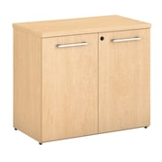 Bush Business Furniture  Emerge Bookcase with Doors, Natural Maple (300S107AC)