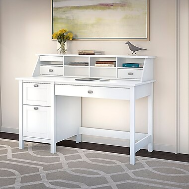 Bush Furniture Broadview Computer Desk With 2 Drawer
