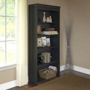 Bush Furniture Stanford 5 Shelf Bookcase, Antique Black (WC53965-03K)