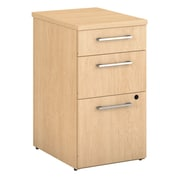 Bush Business Furniture Emerge 3 Drawer File Cabinet, Natural Maple (300S104AC)