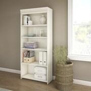 Bush Furniture Fairview 5 Shelf Bookcase, Antique White (WC53265-03)
