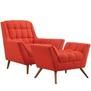 Modway Response Living Room Set - Set of 2 in Atomic Red (889654074557)